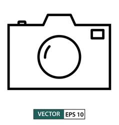 camera icon symbol flat design isolated on white vector image