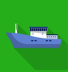 cargo ship icon flat style vector image