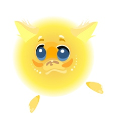 Cartoon character yellow furry animal vector