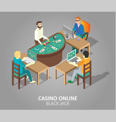 casino online blackjack game vector image