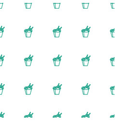 Chinese fast food icon pattern seamless white vector