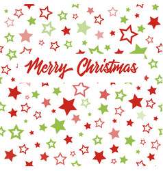 christmas greeting card with stars pattern vector image