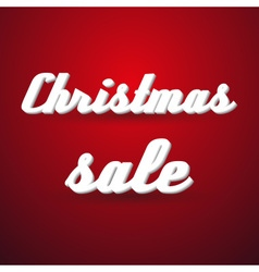 christmas holidays sale modern paper like text vector image