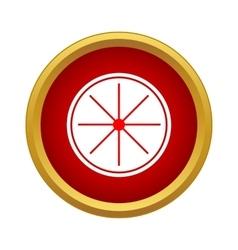 Citrus slice icon in simple style vector