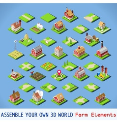 City 03 COMPLETE Set Isometric vector image