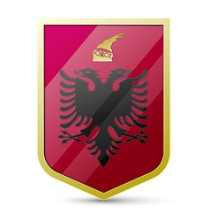 Coat of arms of Albania vector image