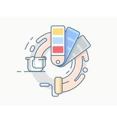 Color palette line design vector image