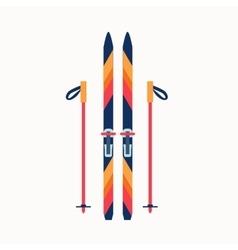 Colorfu sport winter ski vector image