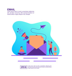 Concept email modern conceptual for banner vector