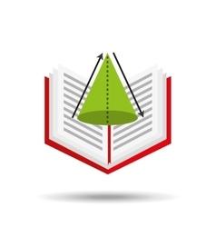 Concept school book geometri vector