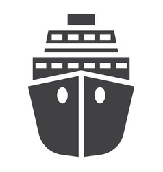 Cruise solid icon travel and tourism vector