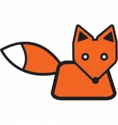 Cute fox vector