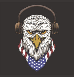 eagle head usa vector image