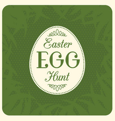 easter egg hunt typographical vector image