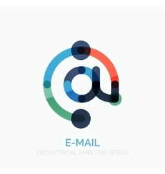 email business symbol or at sign logo vector image