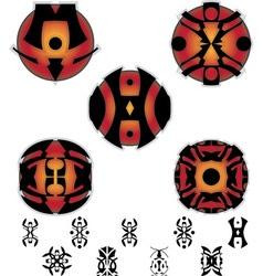 fantasy hieroglyphs and pictograms vector image vector image