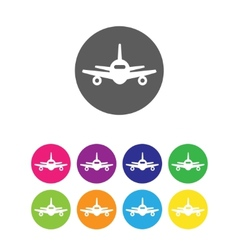 Flat air plane icons vector image