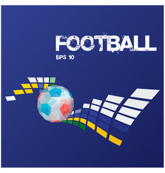 football text modern geometry ball background vect vector image