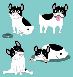 Funny french bulldog vector