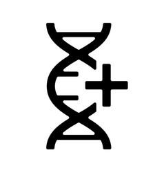 Gmo icon black sign symbol genetically modified vector