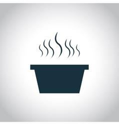 Hot dish black icon vector image