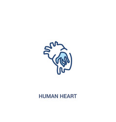 Human heart concept 2 colored icon simple line vector