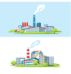 industrial factory backgrounds vector image