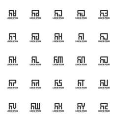 Initial letter logo set minimal letter logo vector