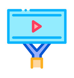 Installed video ads icon outline vector