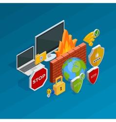 Internet security concept vector