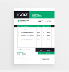 invoice template layout design vector image