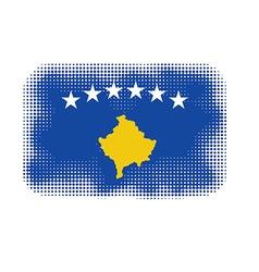 Kosovo flag halftone vector