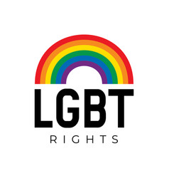 lgbt rights symbol in rainbow colors vector image