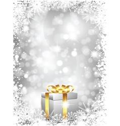 luxury christmas gift vector image