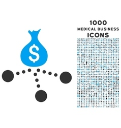 Money Distribution Icon with 1000 Medical Business vector