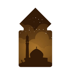 Mosque ethnic window view design vector