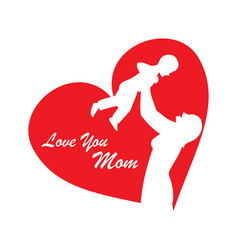 Mothers day for card vector