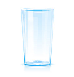 One empty glass isolated vector