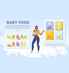 order online baby food delivery service webpage vector image