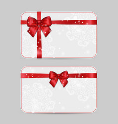 ornamental card templates with ribbon bow vector image