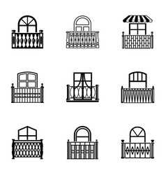 Passage icons set simple style vector