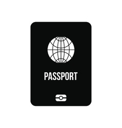 Passport black simple icon vector