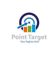 point target financial logo designs vector image