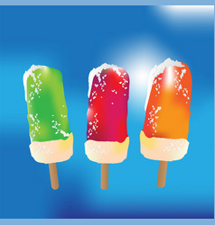 popsicle set colorful popsicles summer vector image