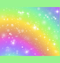 Rainbow background fantasy unicorn galaxy fairy vector