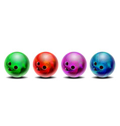 realistic colorful 3d purple blue red green vector image