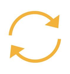 Refresh arrows glyph color icon vector