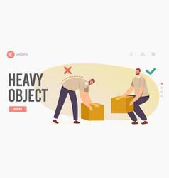 right and wrong manual handling and lifting of vector image