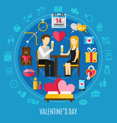 round valentines day composition vector image