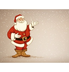 Santa laus showing in empty vector image